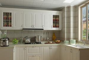 阳台改厨房效果图装修设计案例