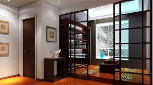榻榻米式现代书房装修效果图