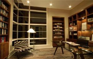欧式书桌书柜组合设计方案