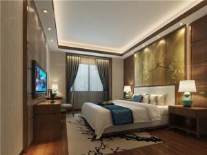 四居室中式卧室电视背景墙