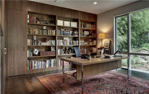 高清无水印书房欧式书柜