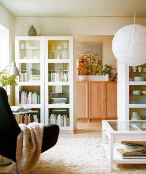 小户型客厅书柜设计装修