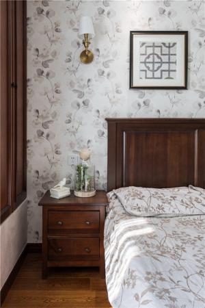 田园风格床背景墙定制