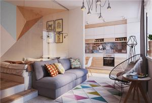 小户型旧房改造地台床