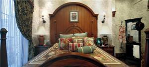 美式实木卧室床款式