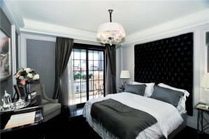 黑白风格欧式床