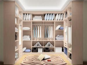 实木卧室整体衣柜