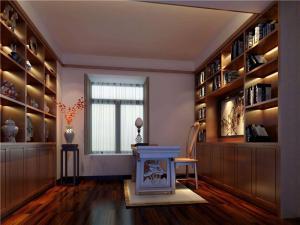 雕花现代简约书房装修效果图