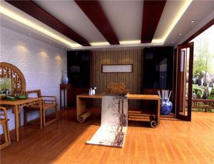 中式书房装修效果图素材高