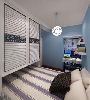 小户型卧室现代简约书房装修效果图
