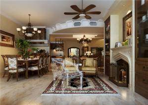 美式客厅小餐桌