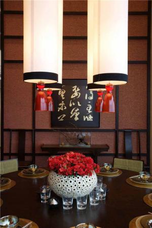 实木中式餐桌