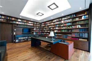 大户型书库现代书房装修效果图