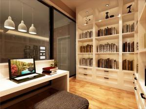 实用现代简约书房装修效果图