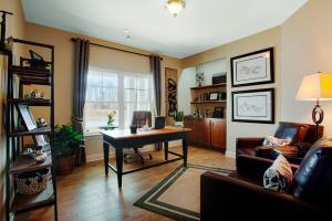 办公室家庭书房装修效果图