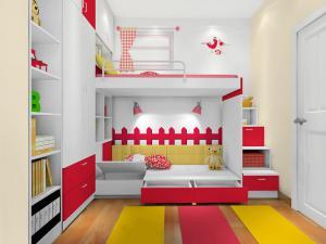 卧室高低床装修效果图测