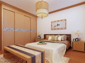 主卧室的床中式衣柜