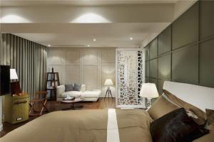 现代时尚主卧室的床