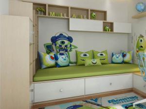 儿童榻榻米床装饰