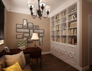 178平凡米美式书房装修效果图