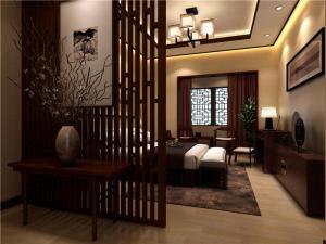 三层楼卧室中式风格