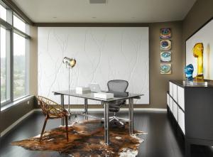 灰色调现代简约书房装修效果图