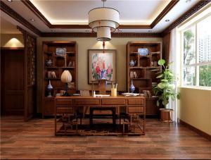 风雅中式书房装修效果图