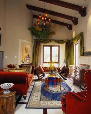 现代客厅茶几装饰