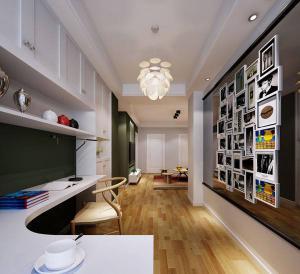 转角设计开放式书房装修效果图