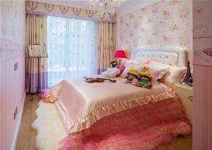 欧式女生卧室双人床
