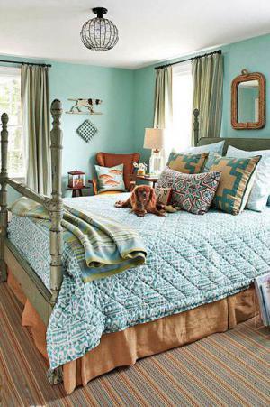 复古的卧室床