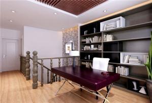 复式三居室现代简约书房装修效果图