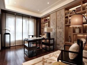 中式书房装修效果图壁纸设