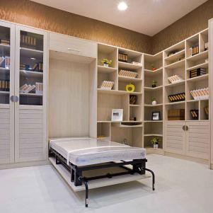 书房布置效果图隐形床