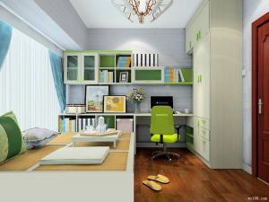 6平方木现代简约书房装修效果图