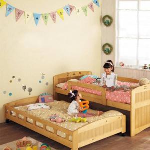家具卧室高低床装修效果图
