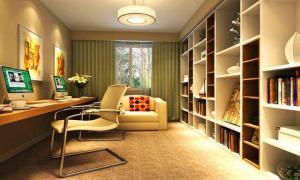 现代简约书房装修效果图沙发搭配