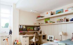 儿童书房装修效果图收纳案例
