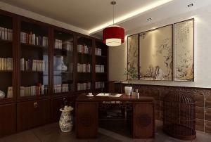 高端典雅古典书房装修效果图