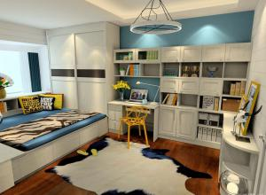 家庭书房装修效果图整套家