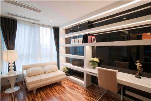 家居现代简约书房装修效果图