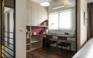木质风格小书房装修效果图