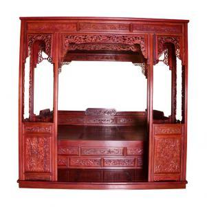 中式雕花卧室床款式