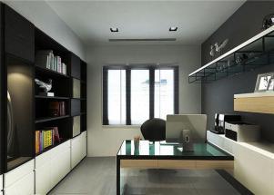 两室现代简约书房装修效果图