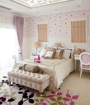 欧式豪华卧室床款式