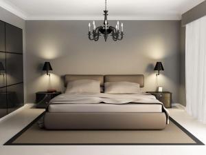 简洁卧室双人床