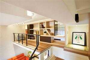 复式楼现代书房装修效果图