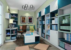 多功能书房装修效果图图册