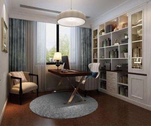 四居室美式书房装修效果图