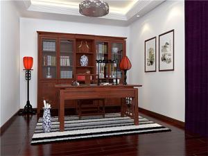 中式书房装修效果图带阳台